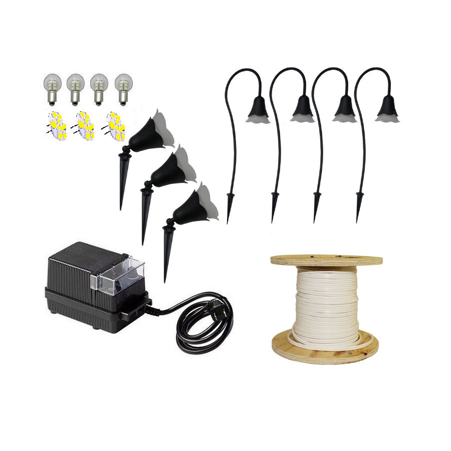 Outdoor Pathway Lighting Kits : Led flower light pack kit flowerpk by aql
