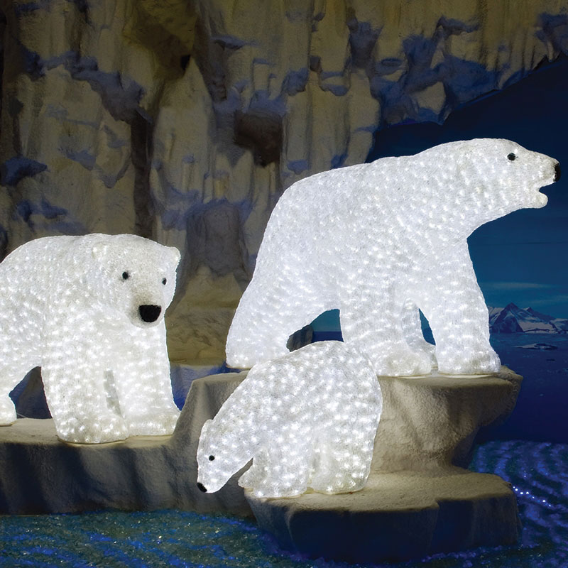 led-acrylic-sculptures-polar-bear-family-87642.jpg - Christmas Polar Bear Outdoor LED Sculpture AQLighting