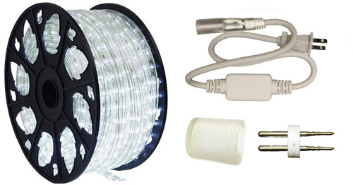 LEDROPEKITS-CW-STD LED Cool White Rope Light Standard Kit